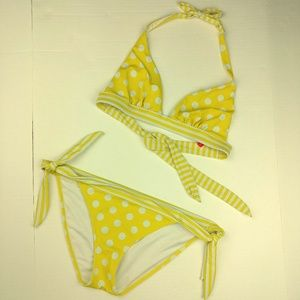 Victoria's Secret Matching Polka Dot Swimsuit